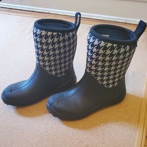 Columbia Black & Houndstooth Winter Boots